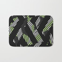 Triangle Theory, No.17 in Black & Lime Bath Mat