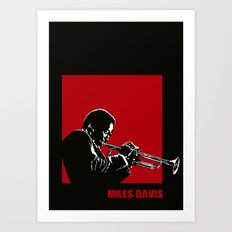 MILES / DAVIS [A Kind of Red][by felixx / 2016] Art Print