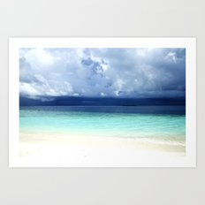 Maldives colors Art Print