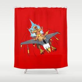 Male Pattern Badness Shower Curtain
