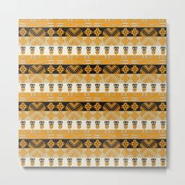 Ethnic African tribal stripes pattern Metal Print