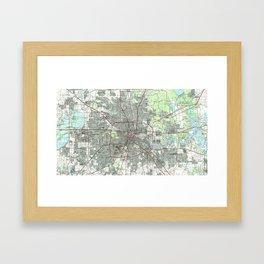 Houston Texas Map (1992) Framed Art Print