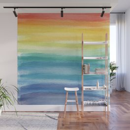Watercolor Rainbow_ Wall Mural