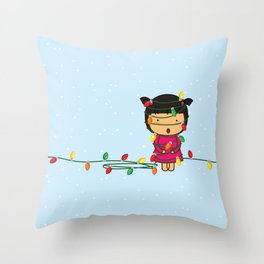 Fairy Lights on Winter Nights. Throw Pillow