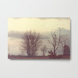 Over the Ridge at Dusk Metal Print