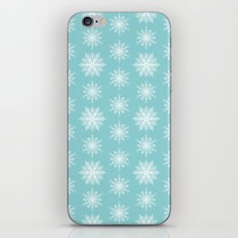 Frosty Snowflakes iPhone Skin