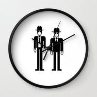 blues brothers Wall Clocks featuring The Blues Brothers by Band Land