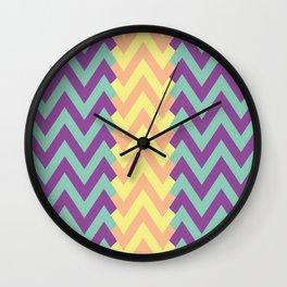 Zig Zag Design Wall Clock
