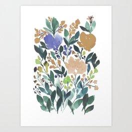 hand painted flowers_2b Art Print