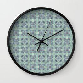 Butterfly Semi-Plaid Wall Clock