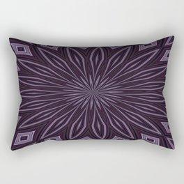 Eggplant and Aubergine Floral Design Rectangular Pillow