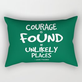 Where Courage is Found Quote - Tolkien Rectangular Pillow