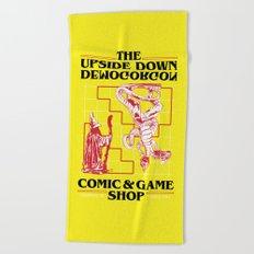 The Upside Down Demogorgon - Stranger Things Have Happened Beach Towel