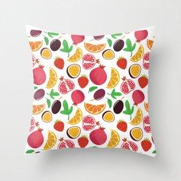 Fresh Fruit Portrait Throw Pillow