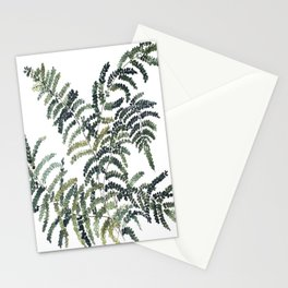 Woodland Fern Botanical Watercolor Illustration Painting Stationery Cards