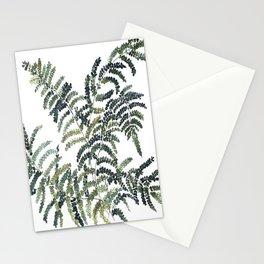 Woodland Fern Botanical Watercolor Illustration Painting Stationery Cards