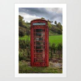 Old Red Phone Box Art Print