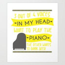 Piano Pianoman Classical Music Music Teacher Art Print