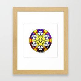 Gold Plated Mandala Framed Art Print