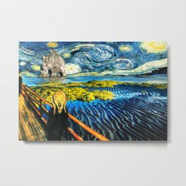 Edvard meets Vincent Metal Print