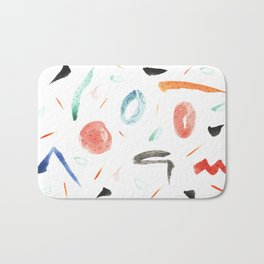 Human lottery Abstract Colourful Pattern Bath Mat