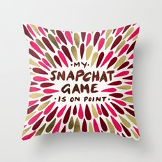 Snapchat – Red & Gold Throw Pillow