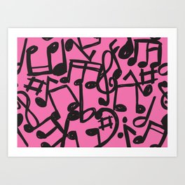 music is pink Art Print