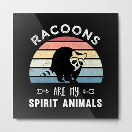 Cute Racoon, Raccoons Spirit Animal Gift Metal Print