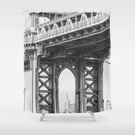 Manhattan Bridge Empire State Shower Curtain