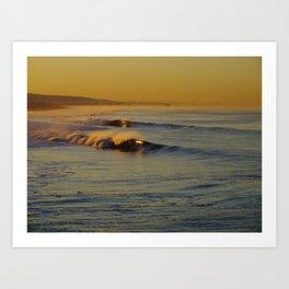 Golden Waves Huntington Beach, California Art Print