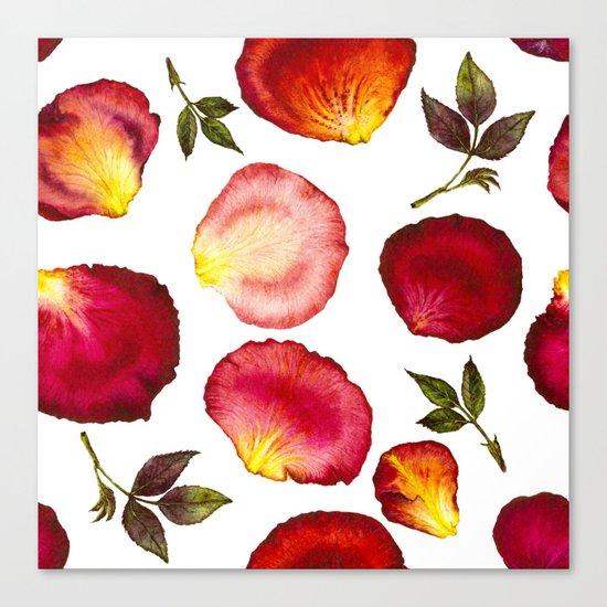 Rose Petal Pattern 01 Canvas Print
