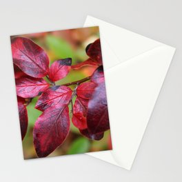 Deep Red Autumn Leaves Stationery Cards