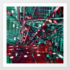 Urban Lines of Berlin Art Print