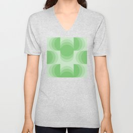 Four Shades of Green Curved Unisex V-Neck