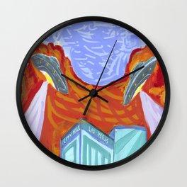 ALIEN FLYING SAUCERS Wall Clock