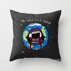 The World Is A Vampire Throw Pillow