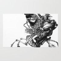 napoleon Area & Throw Rugs featuring Napoleon Bonaparte by Motohiro NEZU