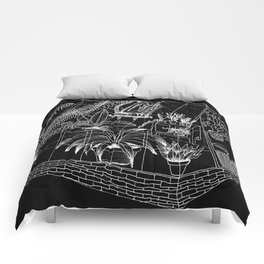 black greenhouse Comforters