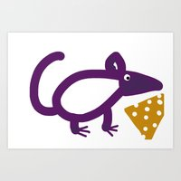 cheese Art Prints featuring Cheese? by Stephanie Cole CREATIONS