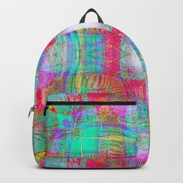 EMBROIDERED ASIAN FABRIC FANTASY COLLAGE Backpack