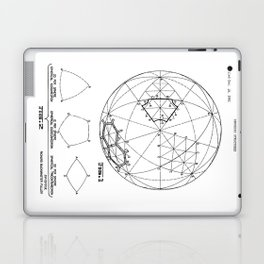 Buckminster Fuller 1961 Geodesic Structures Patent Laptop & iPad Skin