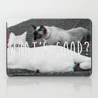 nicki iPad Cases featuring What's good? - Cats version by ismaeledits