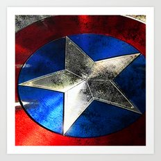 Left behind the captain of america Art Print