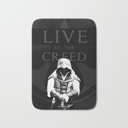 LIVE BY THE CREED - ASSASSIN'S CREED POSTER Bath Mat
