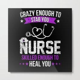 Nurse Healing Hospital Medicine Metal Print