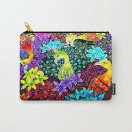 Colored Jungle Birds Carry-All Pouch