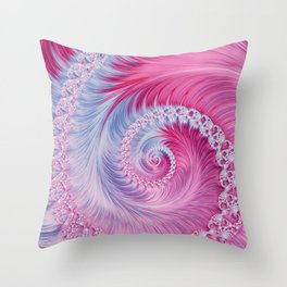 Crystal Spiral Abstract Throw Pillow