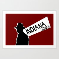 indiana jones Art Prints featuring Indiana Jones by Sabrina