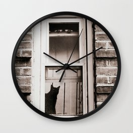 Nosey Rosa the Cat, Cat Silhouette Wall Clock