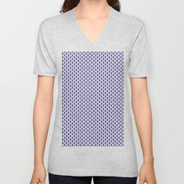 Indian Flowers Blockprint 1 (Dark Blue) Unisex V-Neck